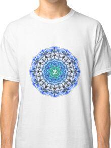 BLUE OM MANDALA Classic T-Shirt