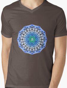 BLUE OM MANDALA Mens V-Neck T-Shirt