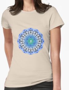 BLUE OM MANDALA Womens Fitted T-Shirt