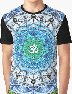 BLUE OM MANDALA Graphic T-Shirt