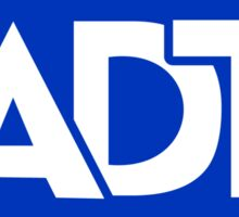A.D.T home security Sticker