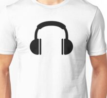 Headphones music DJ Unisex T-Shirt