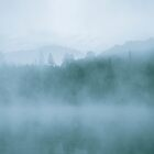 Lost In Fog Over Lake by Jola Martysz