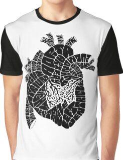 Typographic heart -black Graphic T-Shirt