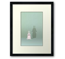 Bunny of the Dark Side Framed Print
