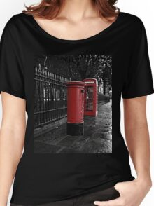 London Phone Box and Royal Mail Postal Box Women's Relaxed Fit T-Shirt