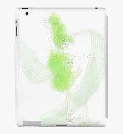 Green Ink Ballerina iPad Case/Skin