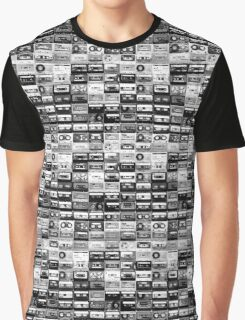 black and white tape illustration  Graphic T-Shirt