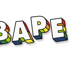 BAPE X RAINBOW  Sticker