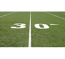 Football Field Thirty Photographic Print