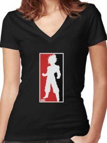 Saiyan Sport - Goku Women's Fitted V-Neck T-Shirt