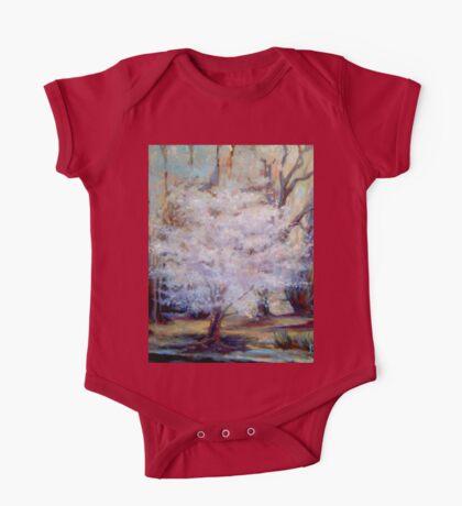 FUMC Cherry Trees, oil on canvas One Piece - Short Sleeve