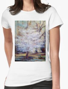 FUMC Cherry Trees, oil on canvas T-Shirt