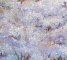 FUMC Cherry Trees, oil on canvas Sticker