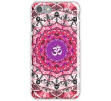 RED OM MANDALA iPhone Case/Skin
