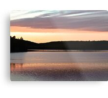 Sunset at Lac Isabel, Low, Quebec, Canada Metal Print