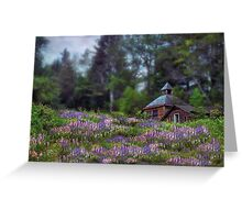 Cabin in the Lupine - Small Works Edition Greeting Card