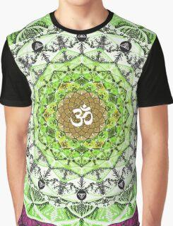 GREEN OM MANDALA Graphic T-Shirt