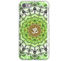 GREEN OM MANDALA iPhone Case/Skin