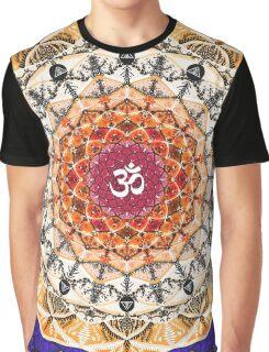 ORANGE OM MANDALA Graphic T-Shirt