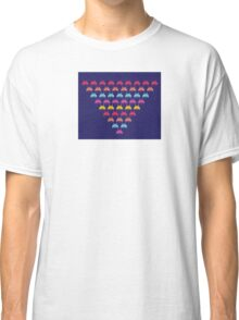 Space Invaders. Illustration of space aliens Classic T-Shirt