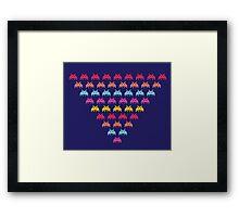 Space Invaders. Illustration of space aliens Framed Print