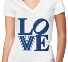 Villanova Love! Women's Fitted V-Neck T-Shirt