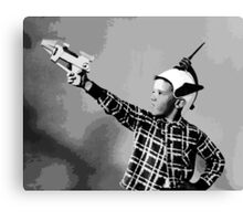 ray gun kid Canvas Print