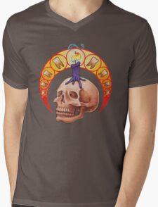 Le Crâne Mens V-Neck T-Shirt