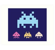Space Invaders. Illustration of space aliens. Vector format. Art Print