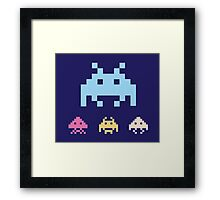 Space Invaders. Illustration of space aliens. Vector format. Framed Print