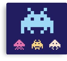 Space Invaders. Illustration of space aliens. Vector format. Canvas Print