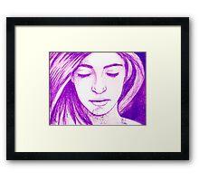 Purple Freckles Framed Print