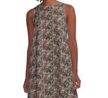 Grungy Roses A-Line Dress