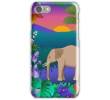African elephant scene iPhone Case/Skin