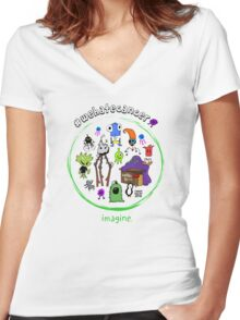 IMAGINE T-SHIRTS by Chase Balay Women's Fitted V-Neck T-Shirt