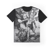 The Big Fight whilst Queing for the New Year Sales. Graphic T-Shirt