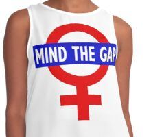 Mind the gender gap Contrast Tank