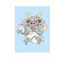 Samurai Hack Art Print