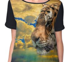 Calm Tiger Chiffon Top