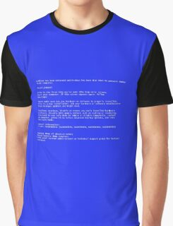 Blue Screen Of Death Graphic T-Shirt