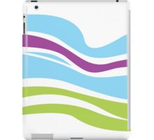 Waves pattern. Elegant abstract texture design iPad Case/Skin