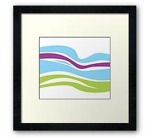 Waves pattern. Elegant abstract texture design Framed Print