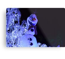 Olaf Paint the Night Metal Print