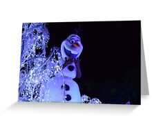 Olaf Paint the Night Greeting Card