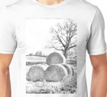 Hay Bales In Countryside Unisex T-Shirt