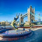 Girl with a Dolphin at Tower Bridge by Chris Thaxter