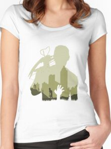 Sniping Zombies Women's Fitted Scoop T-Shirt