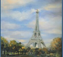 Eifel Tower, oil on canvas by Lindsey O'Shields