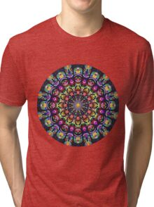 COLORFUL PSYCHEDELIC MANDALA Tri-blend T-Shirt